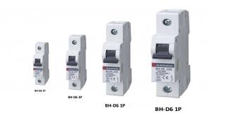 CB tép (MCB) Mitsubishi 1P+N 6A, BH-D6 1P N 16A TYPE C N