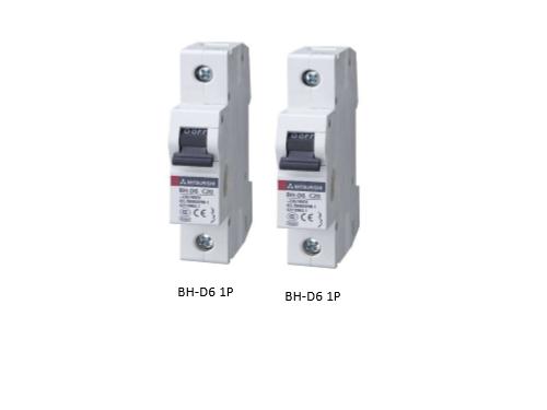 CB tép (MCB) Mitsubishi 1P+N 6A, BH-D6 1P N 20A TYPE C N