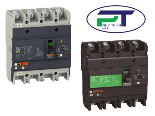 ELCB 4P EZCV250H4150Type H- Bảo vệ quá tải, ngắn mạch và chống rò 100A 25kA 415VAC 0.1-1A