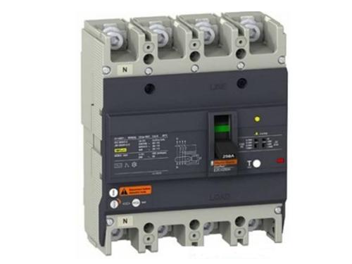 MCCB EZC250N4080Type N – Thiết Bị Đóng Ngắt, Chống Rò Điện – Schneider 4P